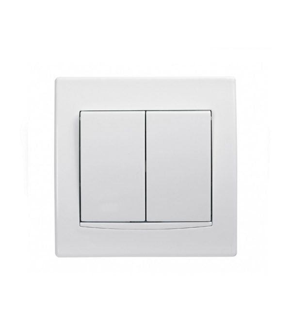 Interruptor Doble Blanco